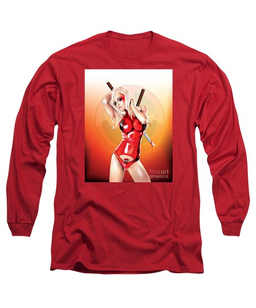 Deadpool With Jen Long Sleeve T-Shirt