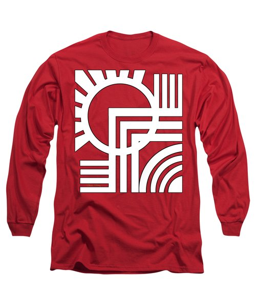 Deco Design White Long Sleeve T-Shirt by Chuck Staley