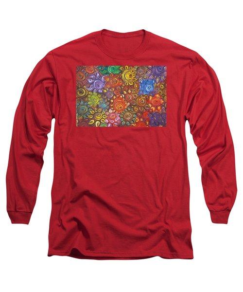Decorative Flowers Long Sleeve T-Shirt