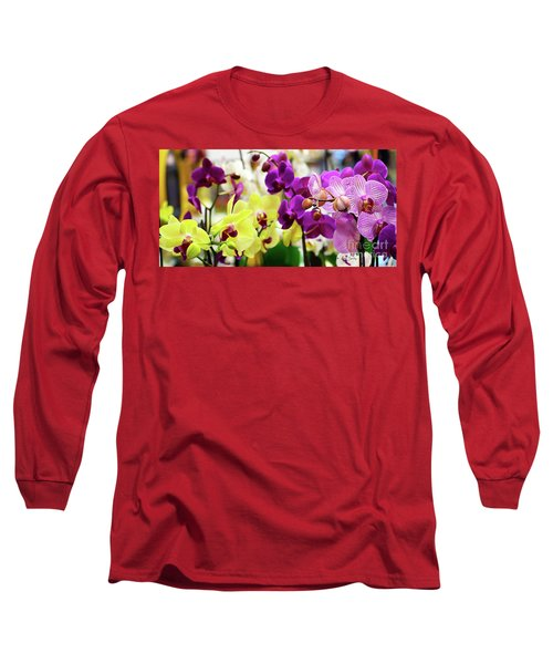 Decorative Orchids Still Life C82418 Long Sleeve T-Shirt
