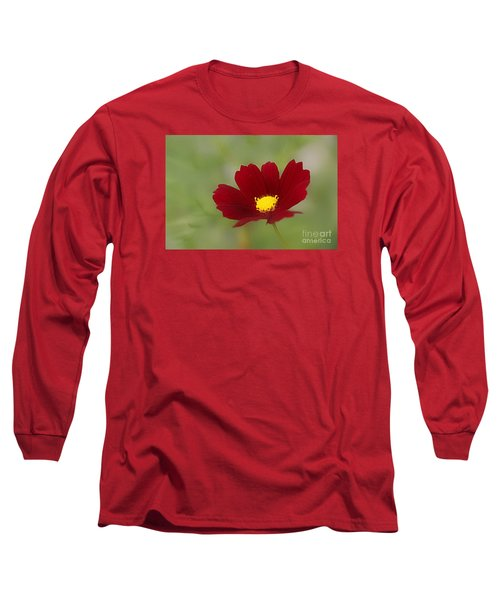 Deep In Red Long Sleeve T-Shirt by Yumi Johnson