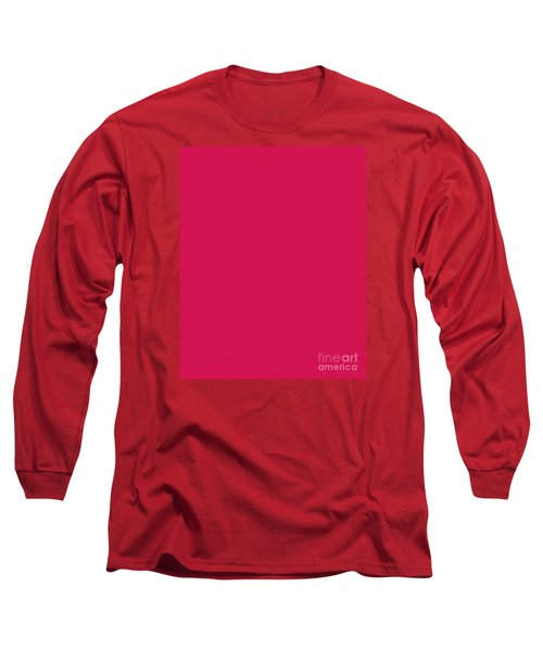 Deep Pink Textured Long Sleeve T-Shirt