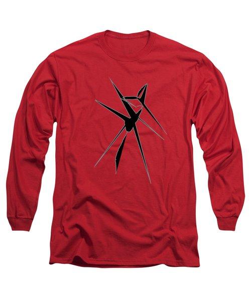 Deer Crossing Long Sleeve T-Shirt by Cathy Harper