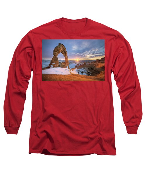 Delicate Arch Winter Long Sleeve T-Shirt
