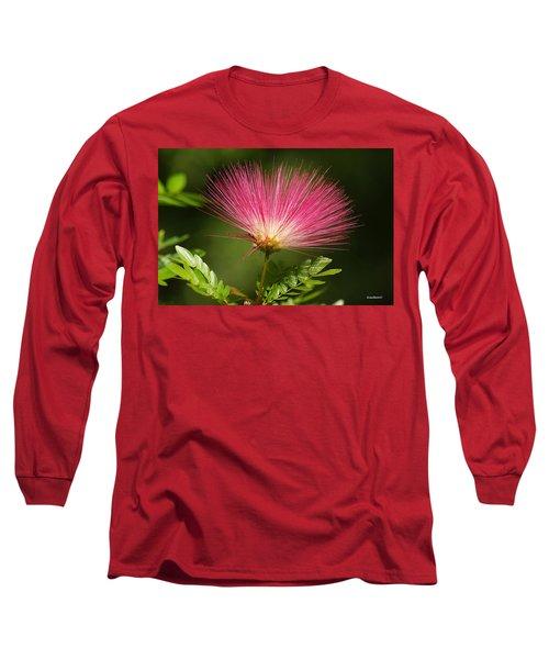 Delicate Pink Bloom Long Sleeve T-Shirt by Gary Crockett