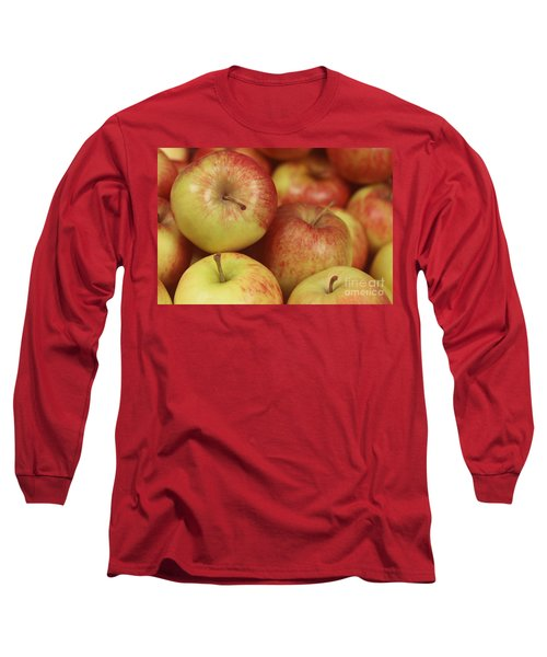 Delicious Apple Fruit Background Long Sleeve T-Shirt