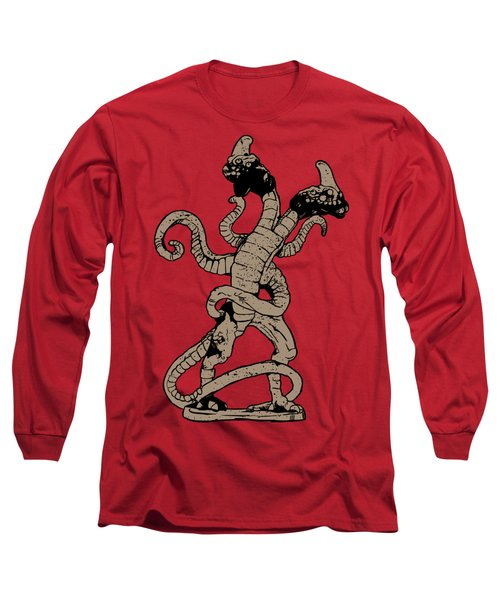 Demogorgon Stranger Things Digital Version Long Sleeve T-Shirt by Jason Wright