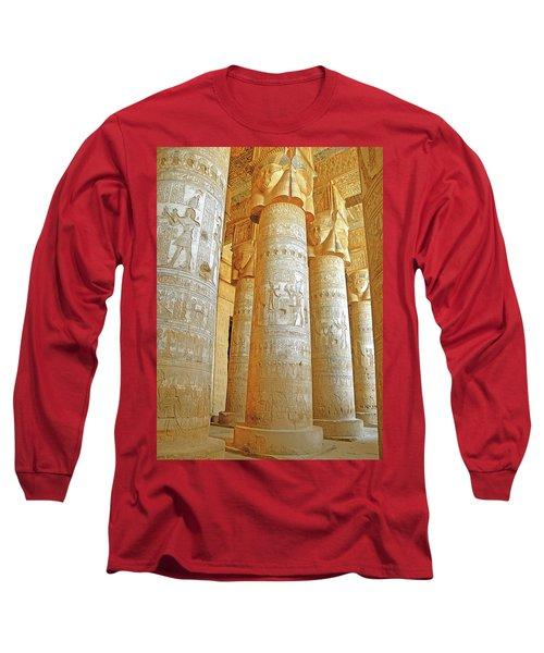Dendera Temple Long Sleeve T-Shirt by Nigel Fletcher-Jones