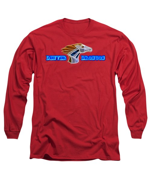 Long Sleeve T-Shirt featuring the photograph Denver Broncos by Shane Bechler