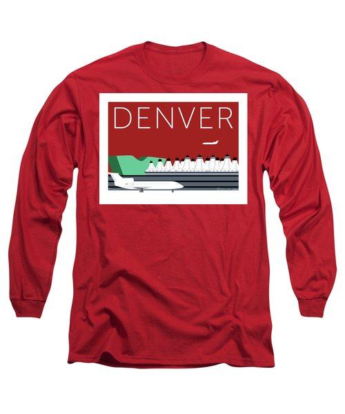 Denver Dia/maroon Long Sleeve T-Shirt