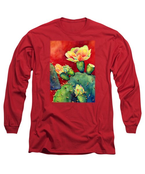 Desert Bloom Long Sleeve T-Shirt by Hailey E Herrera