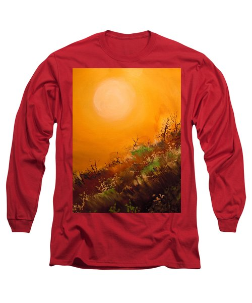 Long Sleeve T-Shirt featuring the painting Hot Desert  Evening  by Dan Whittemore