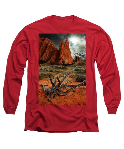Long Sleeve T-Shirt featuring the photograph Desert Floor by Harry Spitz