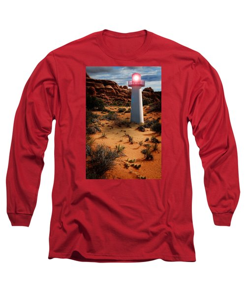 Long Sleeve T-Shirt featuring the photograph Desert Lighthouse by Harry Spitz