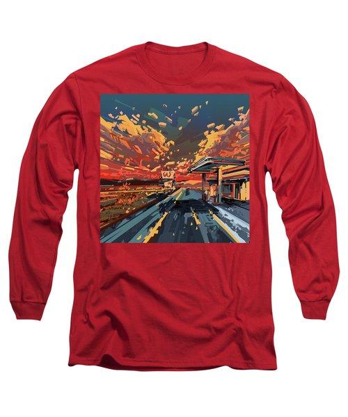 Desert Road Landscape 2 Long Sleeve T-Shirt