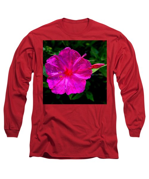 Dew On Four O'clock Blossom Long Sleeve T-Shirt