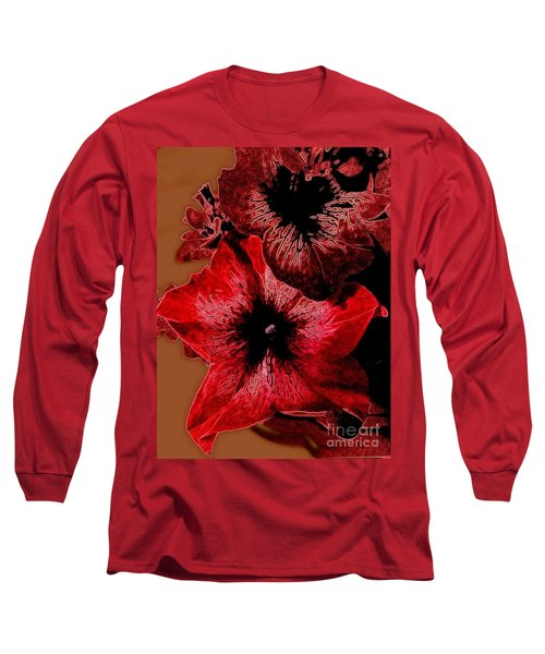 Digital Petunia Long Sleeve T-Shirt