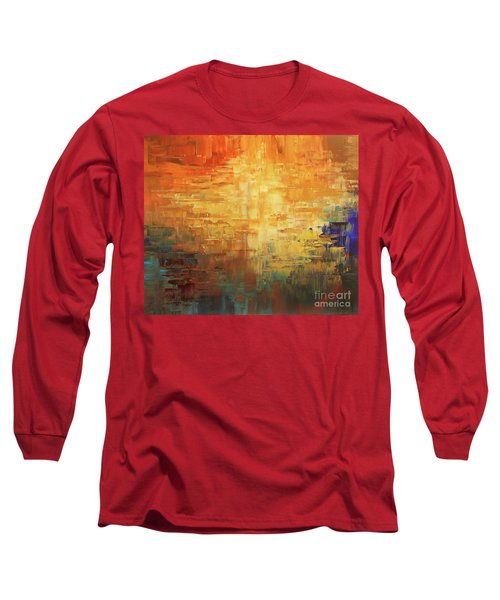 Long Sleeve T-Shirt featuring the painting Dinosaur Lowlands by Tatiana Iliina