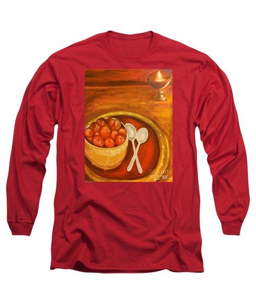 Diwali Sweets Long Sleeve T-Shirt by Brindha Naveen