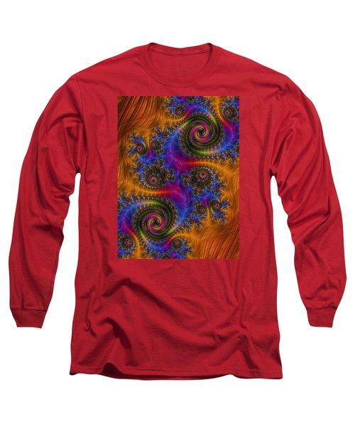 Dizzy Spirals Long Sleeve T-Shirt by Ronda Broatch