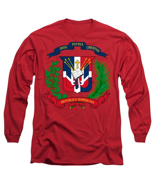 Dominican Republic Coat Of Arms Long Sleeve T-Shirt by Movie Poster Prints