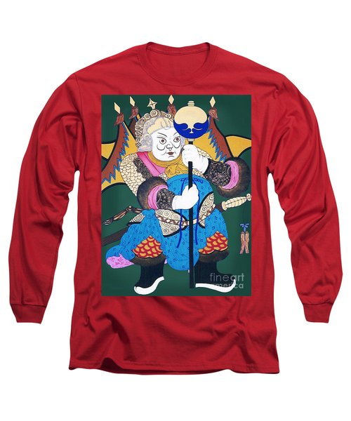 Long Sleeve T-Shirt featuring the painting Door Guard No.1 by Fei A