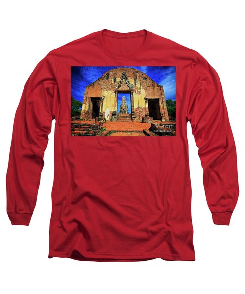 Doorway To Wat Ratburana In Ayutthaya, Thailand Long Sleeve T-Shirt