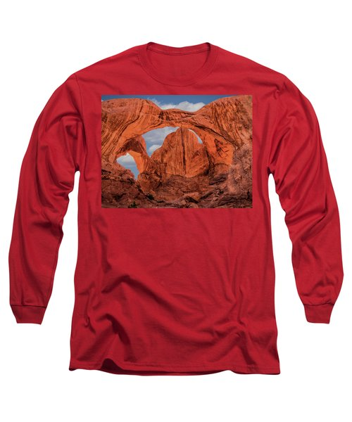 Double Arches At Arches National Park Long Sleeve T-Shirt by Penny Lisowski