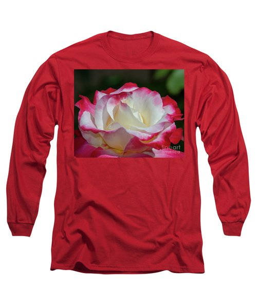 Double Delight Rose 1 Long Sleeve T-Shirt