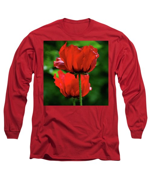 Double Red Poppies Long Sleeve T-Shirt