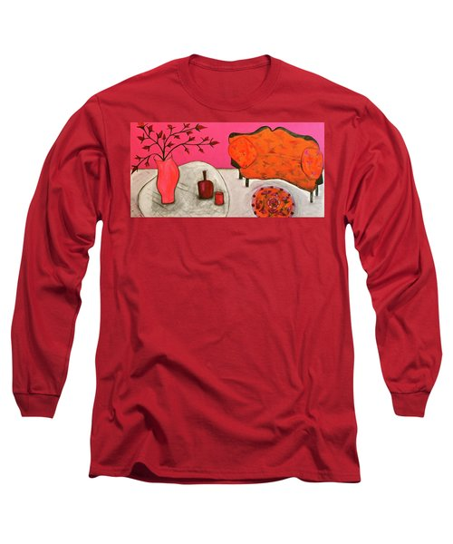 Down The Stairs Into The Living Room  By Paul Paucciarelli  Long Sleeve T-Shirt