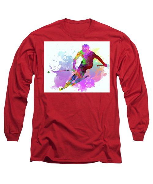 Downhill Skier Long Sleeve T-Shirt