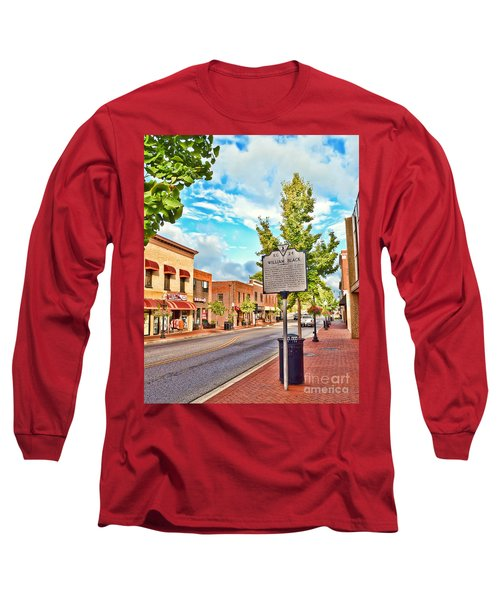 Downtown Blacksburg With Historical Marker Long Sleeve T-Shirt