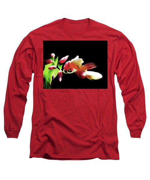 Dramatic Oriental Orchid Long Sleeve T-Shirt by Tina M Wenger
