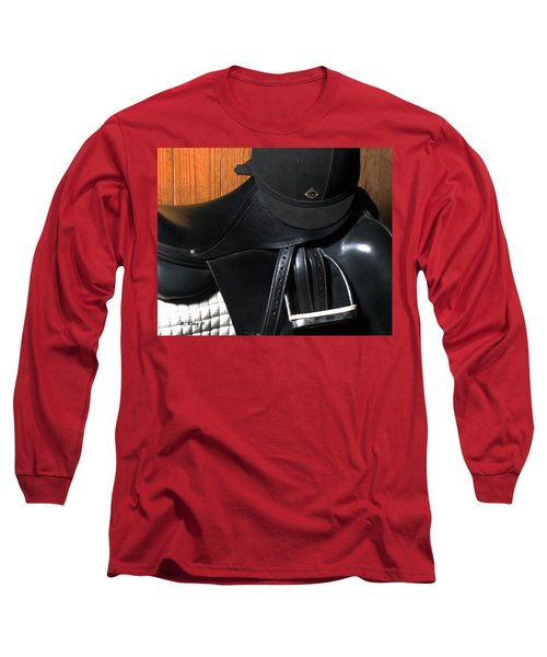 Long Sleeve T-Shirt featuring the painting Drassage Ready by Roena King