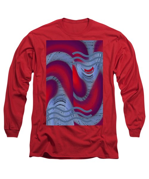 Long Sleeve T-Shirt featuring the digital art Dreaming Clown by Ben and Raisa Gertsberg