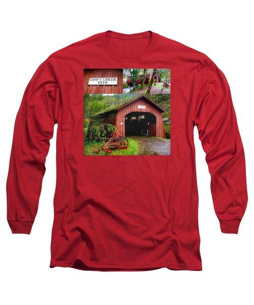 Drift Creek Covered Bridge Long Sleeve T-Shirt