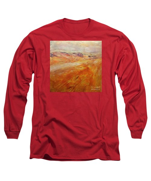 Long Sleeve T-Shirt featuring the painting Drought by Dragica  Micki Fortuna
