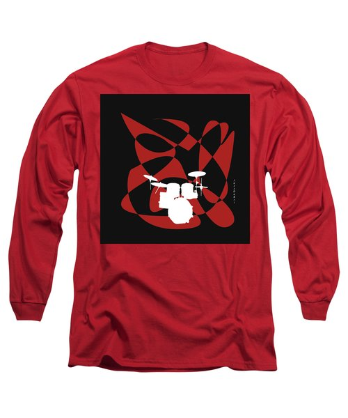 Drums In Black Strife Long Sleeve T-Shirt