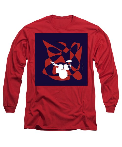 Drums In Purple Strife Long Sleeve T-Shirt