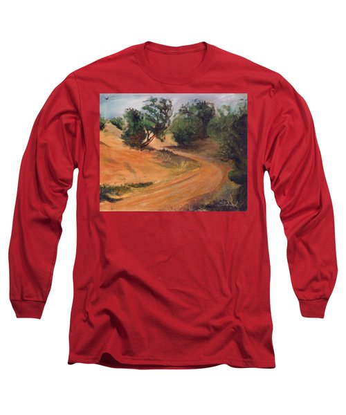 Dry Wash Road Long Sleeve T-Shirt by Sherril Porter