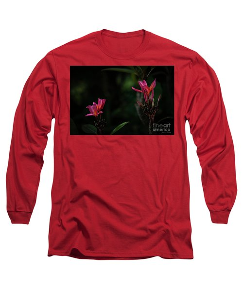 Dual Red Plumerias Long Sleeve T-Shirt