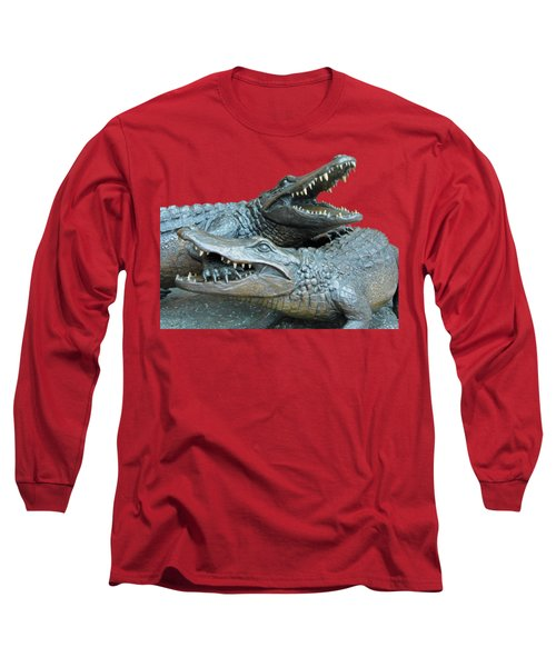 Dueling Gators Transparent For Customization Long Sleeve T-Shirt by D Hackett