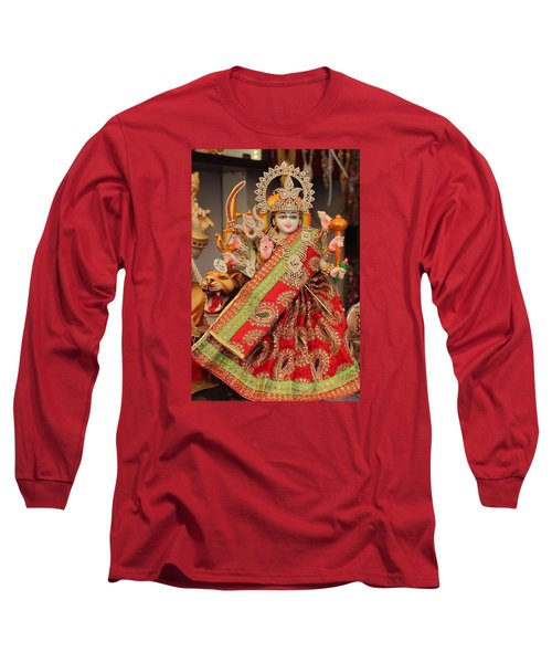 Durga In Madho Bhag, Mumbai Long Sleeve T-Shirt by Jennifer Mazzucco