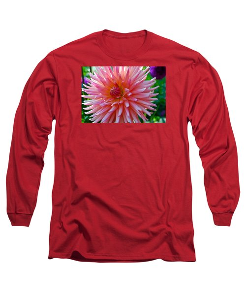 Dusty Rose Dahlia  Long Sleeve T-Shirt