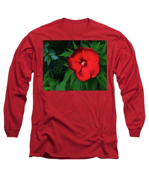 Dynamic Red Long Sleeve T-Shirt
