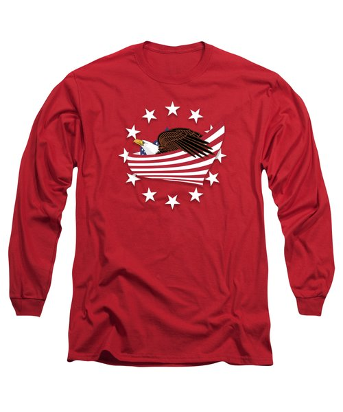 Long Sleeve T-Shirt featuring the digital art Eagle Of The Free V1 by Bruce Stanfield