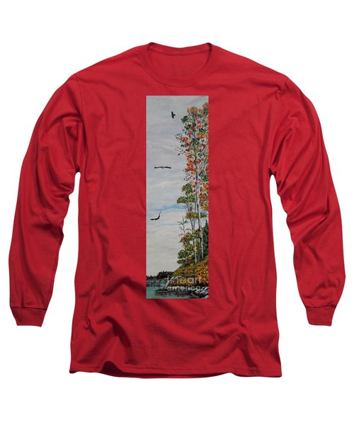 Long Sleeve T-Shirt featuring the painting Eagles Point by Marilyn  McNish