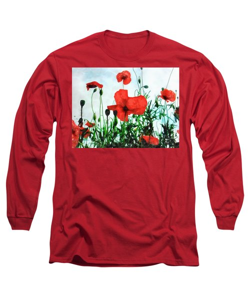 Early Morning Poppy Moment Long Sleeve T-Shirt