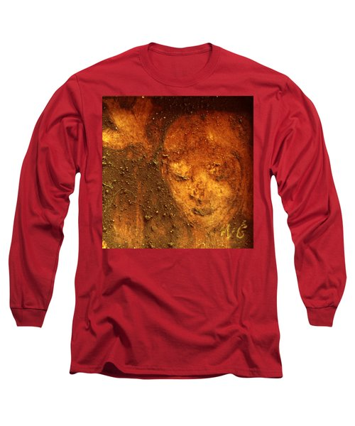 Long Sleeve T-Shirt featuring the painting Earth Face by Winsome Gunning
